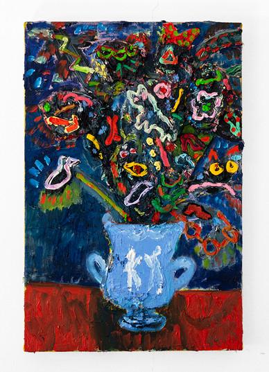 Georgina Gratrix   Arrangement in Rave   2020   Oil on Canvas   60 x 40 cm