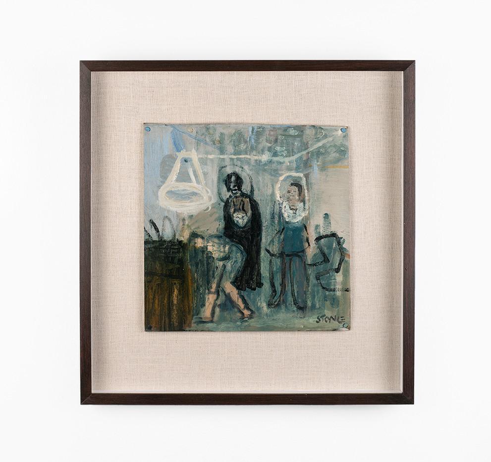 Simon Stone | In the Air | 2020 | Oil on Cardboard | 28 x 28 cm