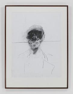 Albert Adams | Portrait of a Man (Celebration Series) | 2001 | Charcoal on Paper | 122 x 93 cm