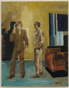 Simon Stone   The Call   2014   Oil on Cardboard   37 x 28.5 cm