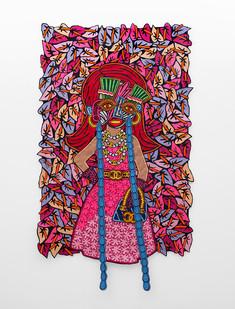 Jody Paulsen | The Socialite | 2018 | Felt Collage | 220 x 129 cm
