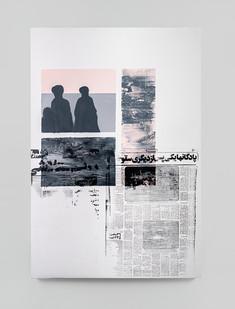 Sepideh Mehraban | Dusk | 2021 | Mixed Media on Canvas | 110 x 75 cm