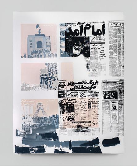Sepideh Mehraban | Trace | 2021 | Mixed Media on Canvas | 145 x 110 cm