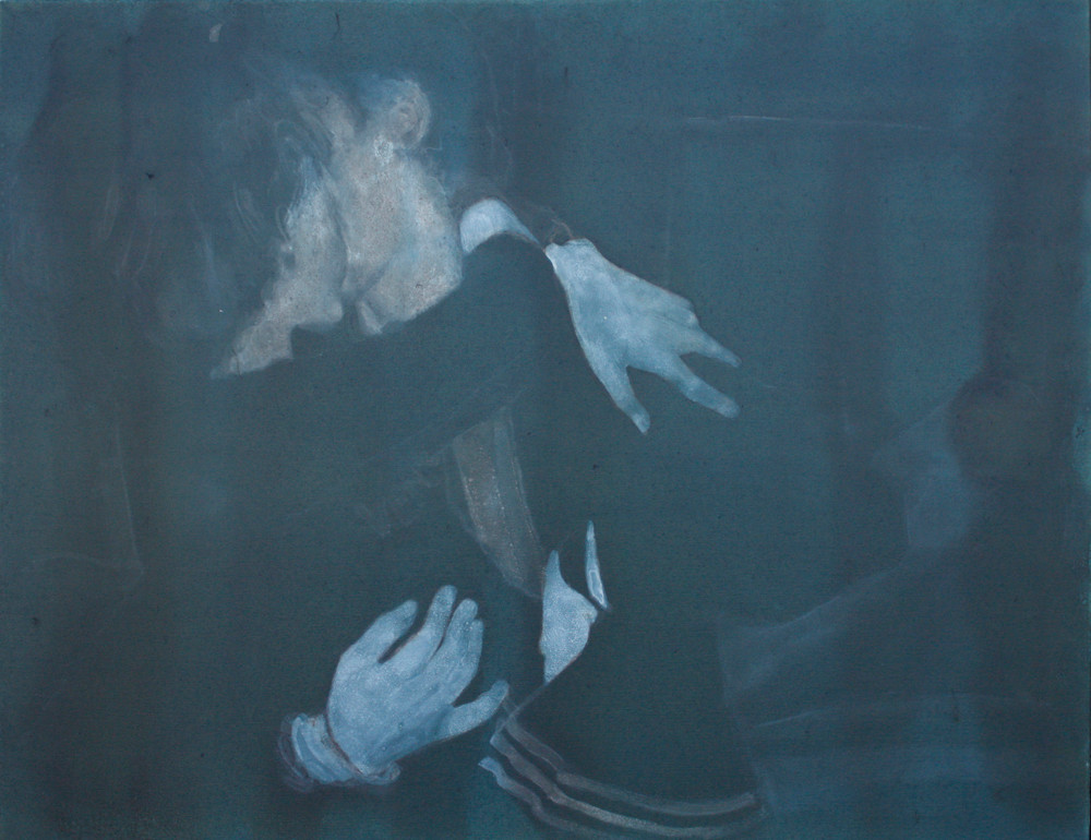 Lisa Brice   Hanging on   2007   Ink and Gesso on Canvas   76 x 105.5 cm