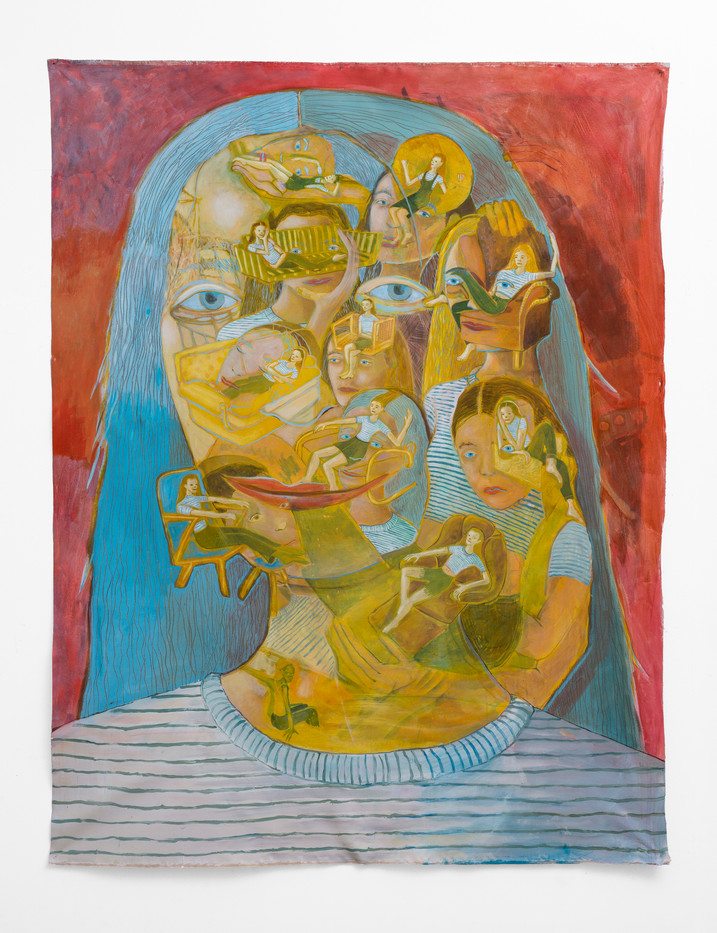 Marlene Steyn | in her feel her out her face mask | 2018 | Oil on Canvas | 213 x 157 cm