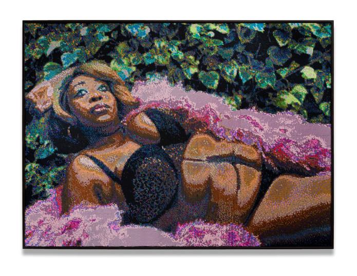 Frances Goodman Garden   Celebration   2020   Hand-Stitched Sequins on Canvas   108.5 x 147.5 x 7 cm