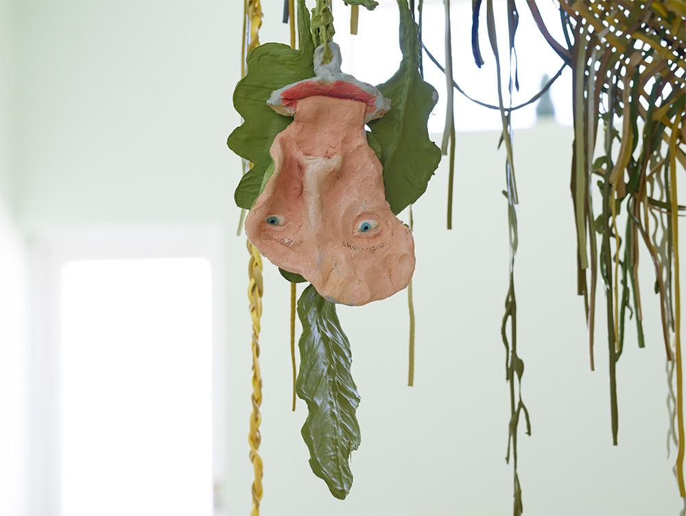 Marlene Steyn & Gabrielle Kruger | She-leaves | 2018 | Ceramic & Mixed Media | 63 x 17 x 10 cm