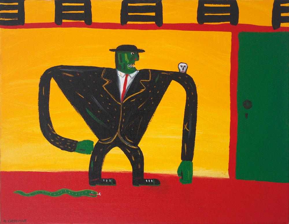 Norman Catherine   Mamba Man   2012   Oil on Canvas   35.5 x 45.5 cm