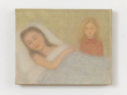 Chechu Álava | Mother and Daughter | 2019 | Oil on Canvas | 19 x 24 cm