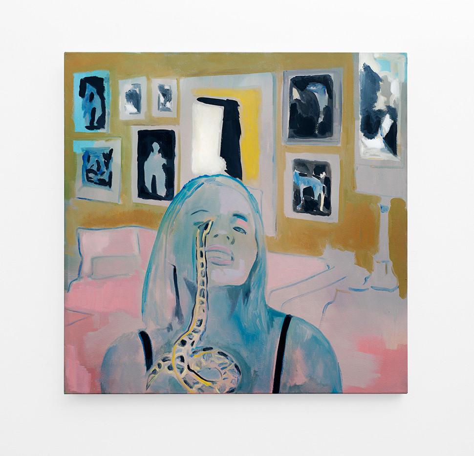 Kate Gottgens   Making It   2017   Oil on Canvas   95 x 95 cm