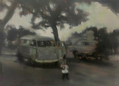 Kate Gottgens | Fireflies | 2013 | Oil on Canvas | 61 x 84 cm