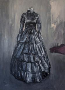 Johann Louw   Swart Rok   2015   Oil on Board   169.5 x 122 cm