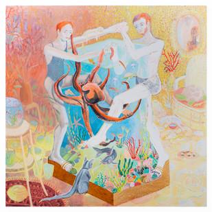 Marlene Steyn | a jar not ajar | 2019 | Oil on Canvas | 190 x 190 cm