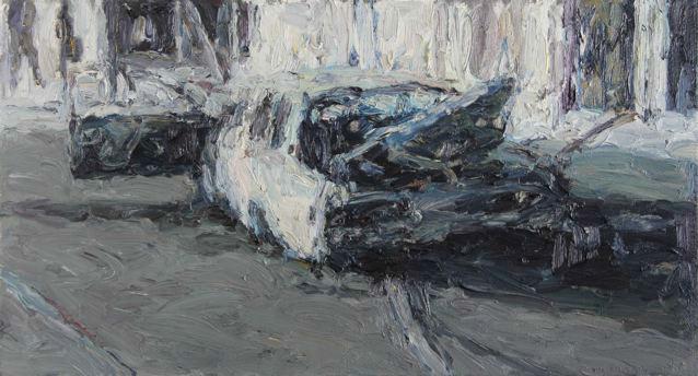 Anton Karstel | Kerkstraat-Bom | 2015 | Oil on Canvas | 38 x 62 cm