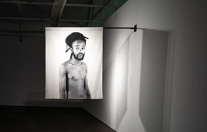 Musa N. Nxumalo | Story of O.J., After 4:44 (Sanele Moya) | 2020 | Archival Pigment Print on Hemp Linen | 160 x 130 cm | Edition of 3 + 2 AP