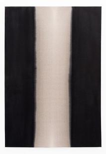 Alexandra Karakashian | Refuge II | 2020 | Used Engine Oil, Black Pigment and Sunflower Oil on Canvas | 145 x 100 cm