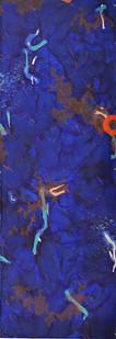 Mongezi Ncaphayi | Astral Blues I-II | 2017 | Indian Ink and Mixed Media on Paper | 397 x 140 cm