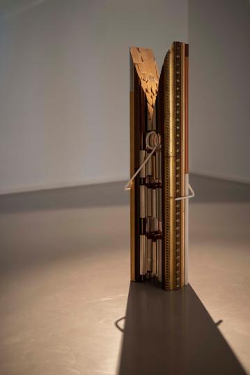 Usha Seejarim   Art History at Home 2021   Reclaimed Frame Moldings and Steel   144 x 39 x 25 cm