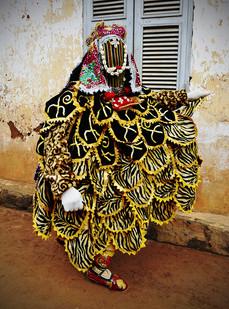 Leonce Raphael Agbodjélou | Egoungoun - Okoto I | 2017 | Giclée Print on Epson Natural Hot Press Paper, Diasec | 150 x 110 cm | Edition of 10 + 2 AP
