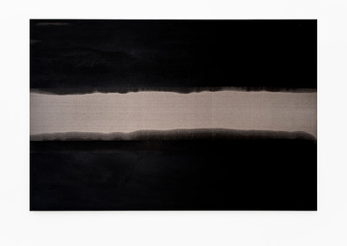 Alexandra Karakashian | Refuge | 2018 | Used Engine Oil on Linen | 200 x 300 cm