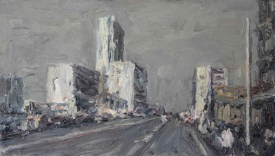 Anton Karstel | Kerkstraat-Bom | 2015 | Oil on Canvas | 38 x 66 cm