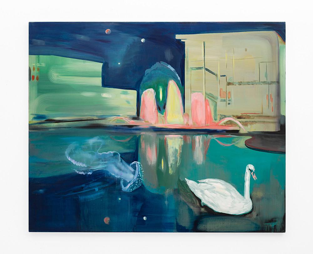 Kate Gottgens | Neon Lake | 2020 | Oil on Canvas | 125 x 150 cm
