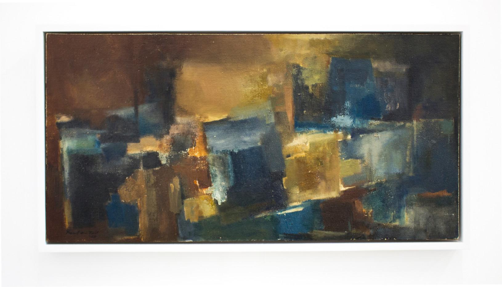 Paul Du Toit | Untitled | 1958 | Oil on Canvas on Board | 39.5 x 78 cm