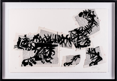 William Kentridge | Scribble Cat | n.d. | Linocut | 43 x 66 cm