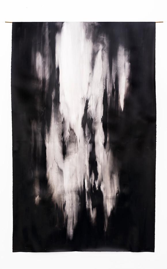 Alexandra Karakashian | Clearing I | 2019 | Oil on Sized Paper | 210 x 131 cm