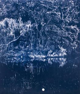 Peter Eastman | Deep Chine - Flood I | 2015 | Oil on Aliminium | 200.5 x 169 cm