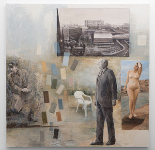 Simon Stone   Stalin Collecting Dust   2016   Oil on Canvas   195 x 195 cm