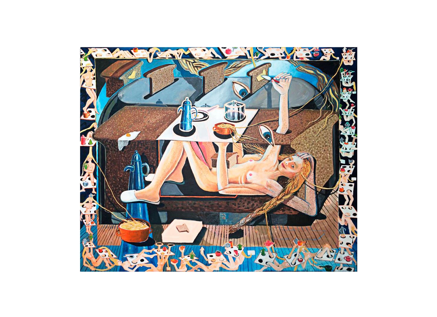 Marlene Steyn | Self raising hour | 2017 | Oil on Linen | 140 X 170 cm
