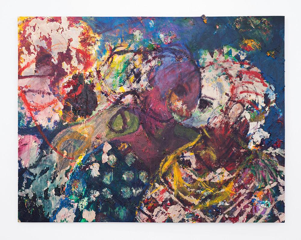 Mostaff Muchawaya   Reflections   2017   Acrylic on Canvas   144 x 185.5 cm
