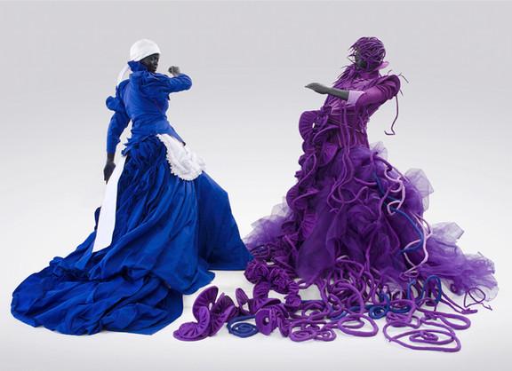 Mary Sibande | A Reversed Retrogress, Scene 1 | 2013 | Fibreglass, Resin, Fabric and Steel | 180 x 120 x 120 cm