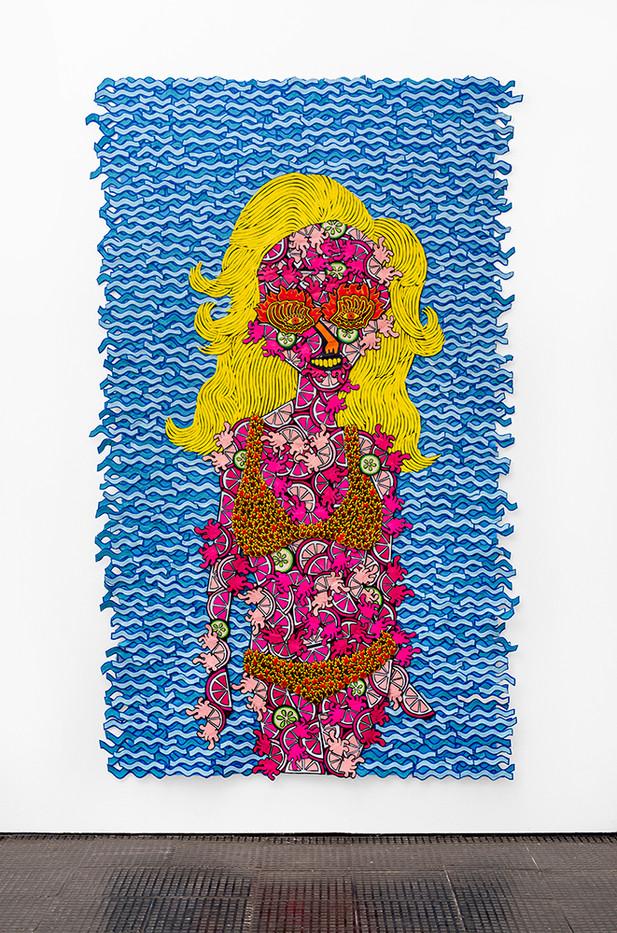 Jody Paulsen | Juicy II | 2020 | Felt Collage | 247.5 x 156.5 cm