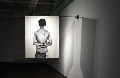 Musa N. Nxumalo | Story of O.J, after 4:44 (Simiato Matik) | 2020 | Archival Pigment Print on Hemp Linen 160 x 130 cm | Edition of 3