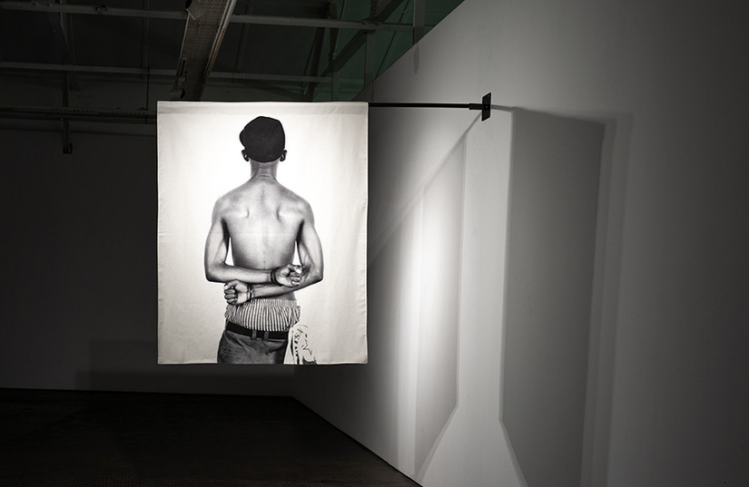 Musa N. Nxumalo   Story of O.J, after 4:44 (Simiato Matik)   2020   Archival Pigment Print on Hemp Linen 160 x 130 cm   Edition of 3