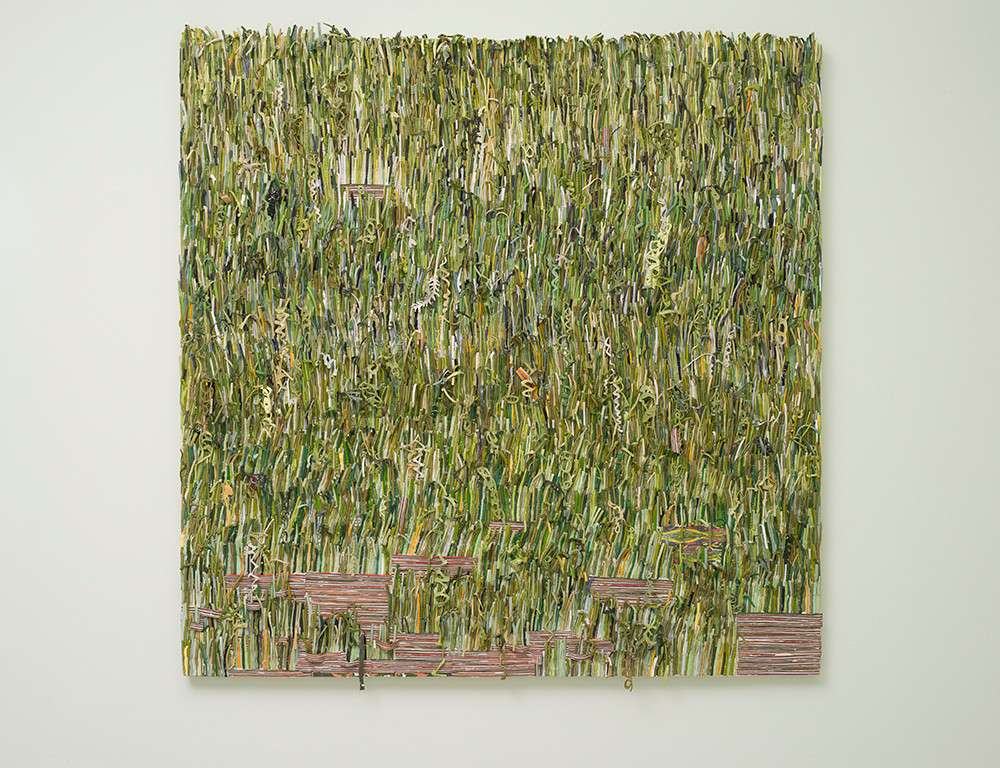 Gabrielle Kruger | The grass is greener when it's made out of paint | 2018 | Acrylic on Board | 130 x 130 cm