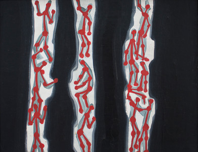 Walter Battiss | Creepy Crawlies | Oil on Board | 39 x 50 cm