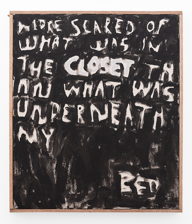 Brett Seiler | More Scared Of What Was In The Closet Than What Was Underneath My Bed | 2019 | Roof Paint on Canvas | 54 x 46.5 cm