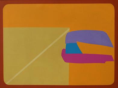 Trevor Coleman | Squeeze | 1974 | Acrylic on Canvas | 92 x 123 cm