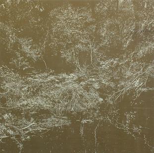Peter Eastman | Deep Chine - Yellow Light | 2015 | Distemper and Oil on Linen | 180 x 180 cm