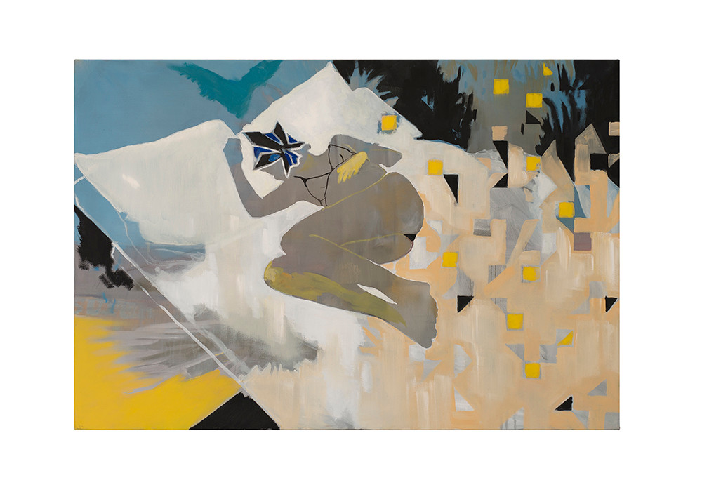 Kate Gottgens   Rubber Glove   2017   Oil on Canvas   100 x 150 cm