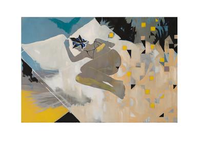 Kate Gottgens | Rubber Glove | 2017 | Oil on Canvas | 100 x 150 cm