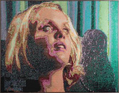 Frances Goodman | Dazed | 2016 | Hand-Stitched Sequins on Linen | 127 x 167 cm