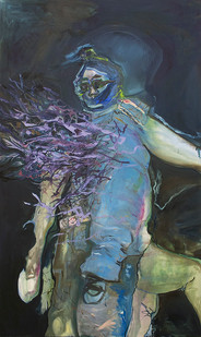 Chemu Ng'ok | Release | 2015 | Oil on Canvas | 200 x 118 cm