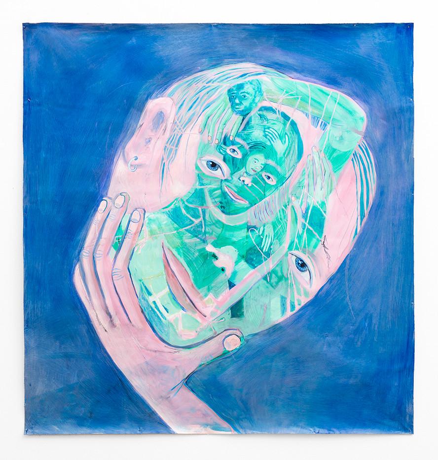 Marlene Steyn | Umbosoming my enbosom | 2018 | Oil on Canvas | 106.5 x 100 cm