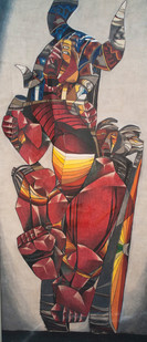 Leonard Matsoso   Rikcha   1980   Crayon on Paper   178 x 82 cm