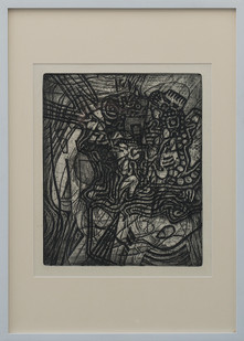 Kevin Atkinson | Abstract Composition | c. 1965 | Etching | 35 x 29.5 cm
