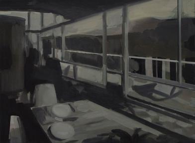 Kate Gottgens | Petty Crime VI | 2012 | Oil on Canvas | 30.5 x 40.5 cm